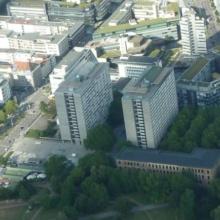 Bilder der beiden Kollegiengebäude K I und K II
